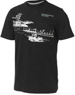 Tričko Mercedes GP Fan Graphic Tee černé