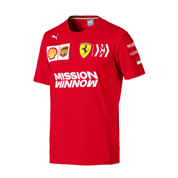2019 Scuderia Ferrari Italy Team Mens Leclerc T-Shirt Red