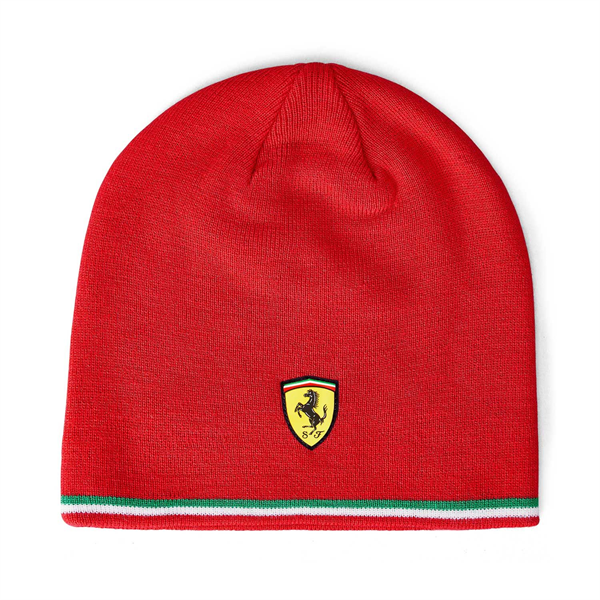 Scuderia Ferrari Mens Knitted Beanie red