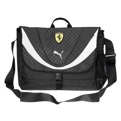 Puma Ferrari Shoulder Bag Black/White - 43 x 34 cm