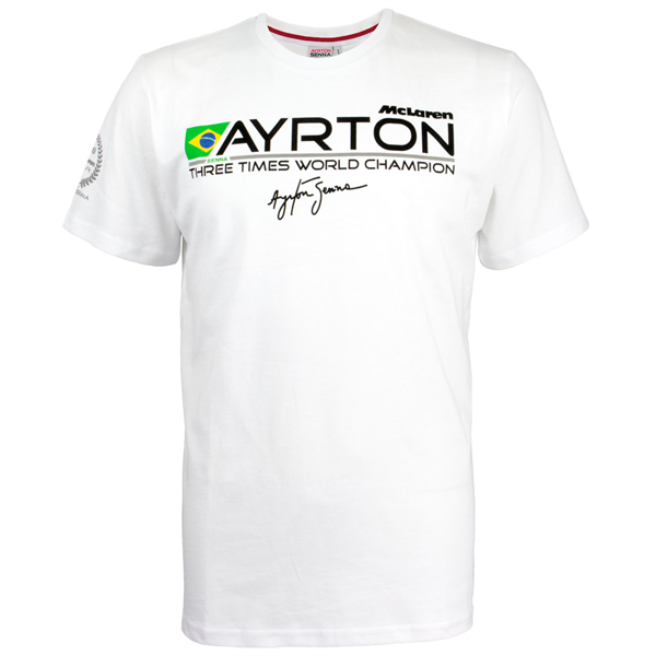 Ayrton Senna and McLaren co-branded T-Shirt f